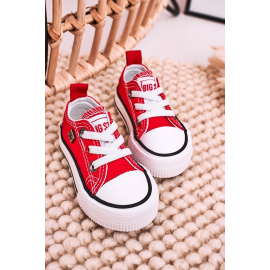 Children's Classic Low Sneakers BIG STAR HH374092 Red
