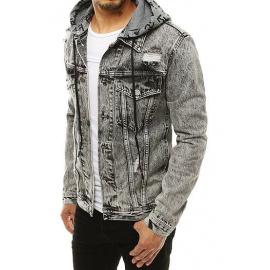 Kurtka męska jeansowa ciemnoszara TX3304