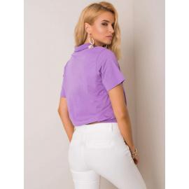 RUE PARIS Fioletowa damska koszulka polo