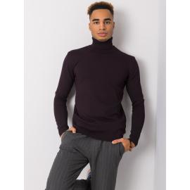 Ciemnofioletowy męski sweter z golfem LIWALI