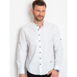 Biała koszula męska z bawełny