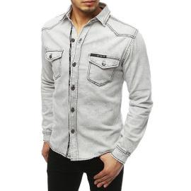 Koszula męska jeansowa jasnoszara DX1846