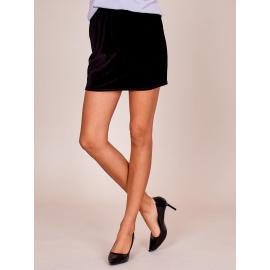 Aksamitna spódnica mini czarna