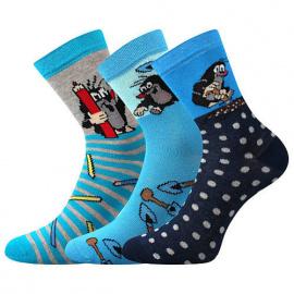 3PACK dětské ponožky Boma modré (Krtek-Mix 2)