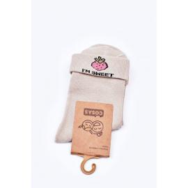 Children's Cotton Socks With Strawberry COSAS Green