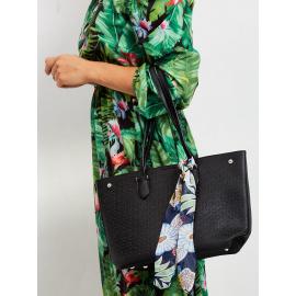 Ażurowa torba shopper bag czarna