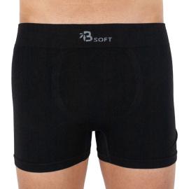 Pánské boxerky Gino bambusové bezešvé černé (54006)