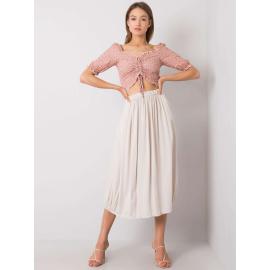 Beżowa zwiewna spódnica damska