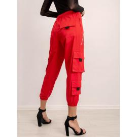 Luźne spodnie BSL czerwone