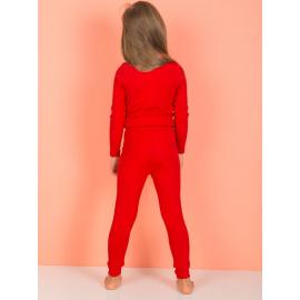 Legginsy dla dziewczynki czerwone