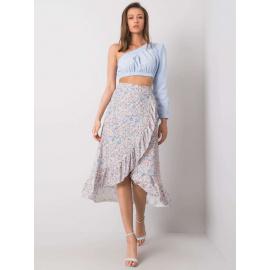 Biała spódnica w kwiatowe wzory
