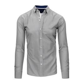 Biało-czarna koszula męska w paski DX1495